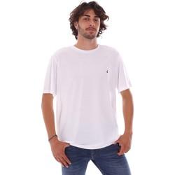 tekstylia Męskie T-shirty z krótkim rękawem Navigare NV31126 Biały