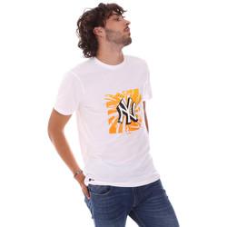 tekstylia Męskie T-shirty z krótkim rękawem New-Era 12720170 Biały
