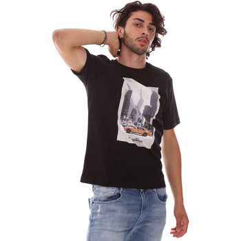 tekstylia Męskie T-shirty z krótkim rękawem Refrigiwear RM0T25500JE9101 Czarny