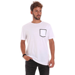 tekstylia Męskie T-shirty z krótkim rękawem Antony Morato MMKS00980 FA100084 Biały
