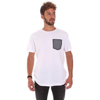 tekstylia Męskie T-shirty z krótkim rękawem Antony Morato MMKS01025 FA100084 Biały