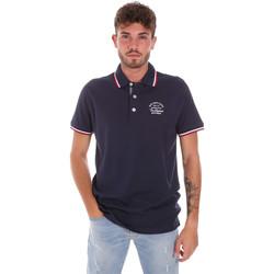 tekstylia Męskie Koszulki polo z krótkim rękawem Key Up 2G89R 0001 Niebieski