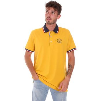 tekstylia Męskie Koszulki polo z krótkim rękawem Key Up 2G89R 0001 Żółty