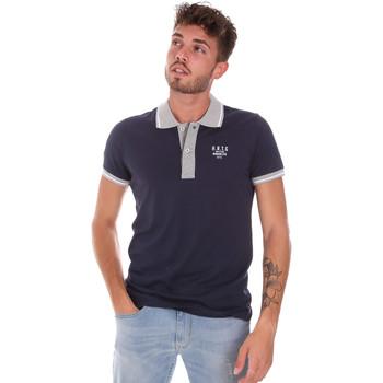 tekstylia Męskie Koszulki polo z krótkim rękawem Key Up 2G87R 0001 Niebieski