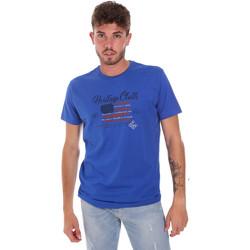 tekstylia Męskie T-shirty z krótkim rękawem Key Up 2G83S 0001 Niebieski