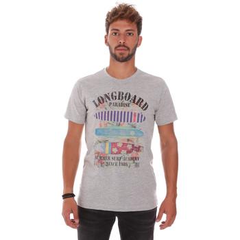 tekstylia Męskie T-shirty z krótkim rękawem Key Up 2D45S 0001 Szary