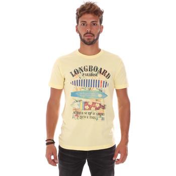 tekstylia Męskie T-shirty z krótkim rękawem Key Up 2D45S 0001 Żółty