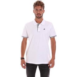 tekstylia Męskie Koszulki polo z krótkim rękawem Key Up 2R53G 0001 Biały