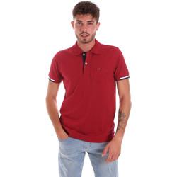 tekstylia Męskie Koszulki polo z krótkim rękawem Key Up 2R56G 0001 Czerwony