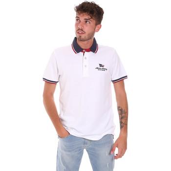 tekstylia Męskie Koszulki polo z krótkim rękawem Key Up 2Q60G 0001 Biały
