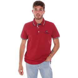 tekstylia Męskie Koszulki polo z krótkim rękawem Key Up 2Q60G 0001 Czerwony