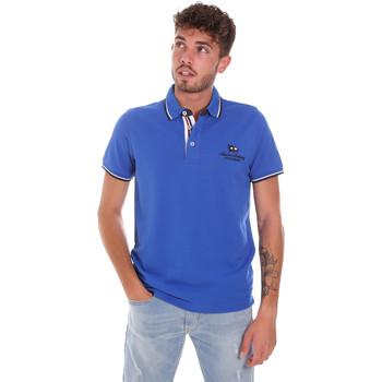 tekstylia Męskie Koszulki polo z krótkim rękawem Key Up 2Q60G 0001 Niebieski