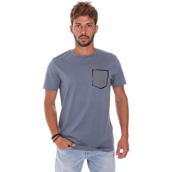 tekstylia Męskie T-shirty z krótkim rękawem Antony Morato MMKS01025 FA100084 Niebieski