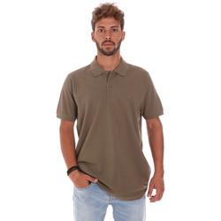 tekstylia Męskie Koszulki polo z krótkim rękawem Key Up 2800Q 0001 Brązowy