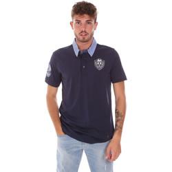 tekstylia Męskie Koszulki polo z krótkim rękawem Gaudi 911BU64038 Niebieski