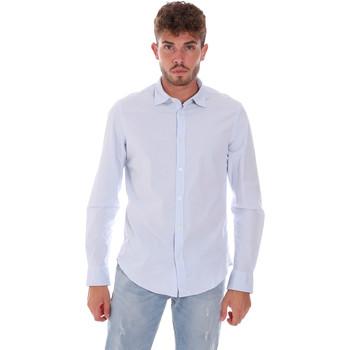 tekstylia Męskie Koszule z długim rękawem Gas 151133 Niebieski