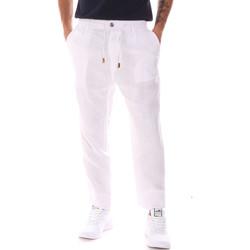 tekstylia Męskie Spodnie Gaudi 911FU25018 Biały