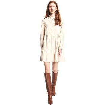 tekstylia Damskie Sukienki krótkie Gaudi 121BD18002 Beżowy