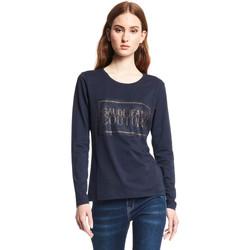 tekstylia Damskie T-shirty z długim rękawem Gaudi 121BD64059 Niebieski