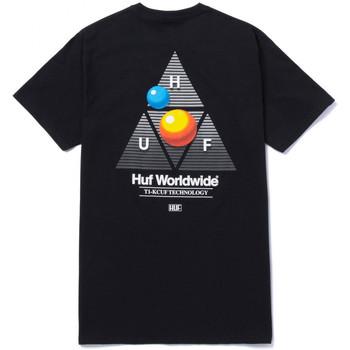 tekstylia Męskie T-shirty z krótkim rękawem Huf T-shirt video format tt ss Czarny
