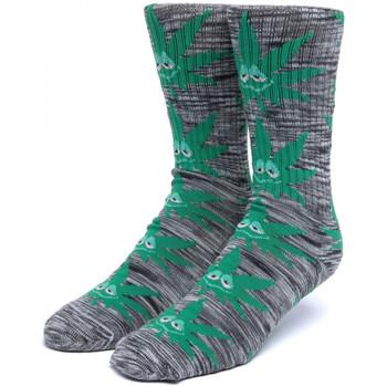 Dodatki Męskie Skarpety Huf Socks tiedye green buddy pl Czarny