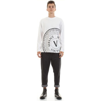 tekstylia Męskie Koszule z długim rękawem Versace Jeans Couture 71GAHT20-CJ00T Biały