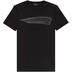 tekstylia Męskie T-shirty z krótkim rękawem Dsquared S74GD0657 Czarny