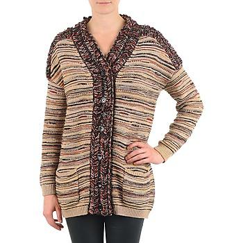 tekstylia Damskie Swetry rozpinane / Kardigany Antik Batik WAYNE Beżowy