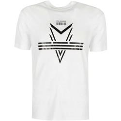 tekstylia Męskie T-shirty z krótkim rękawem Les Hommes  Biały
