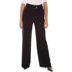 tekstylia Damskie Spodnie z lejącej tkaniny / Alladynki Gaudi 121FD25014 Czarny