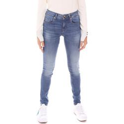 tekstylia Damskie Jeansy slim fit Gaudi 121BD26012L30 Niebieski