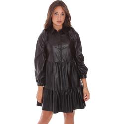 tekstylia Damskie Sukienki krótkie Gaudi 121BD18002 Czarny