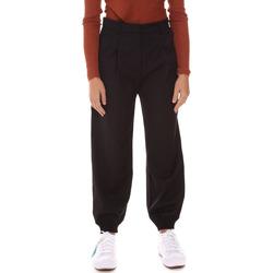 tekstylia Damskie Spodnie dresowe Fracomina F321WV4002W45901 Czarny