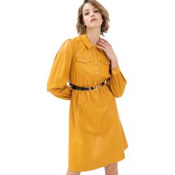 tekstylia Damskie Sukienki krótkie Fracomina FR21WD2007O42001 Żółty