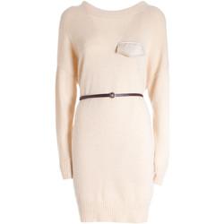 tekstylia Damskie Sukienki krótkie Fracomina F321WD5003K47601 Beżowy