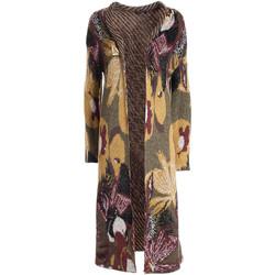 tekstylia Damskie Swetry rozpinane / Kardigany Fracomina F321WT8003K458F8 Czerwony