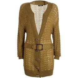 tekstylia Damskie Swetry rozpinane / Kardigany Fracomina F321WT8006K45801 Zielony