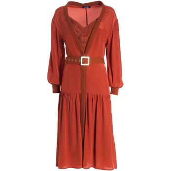 tekstylia Damskie Sukienki długie Fracomina F321WD2004W41801 Pomarańczowy