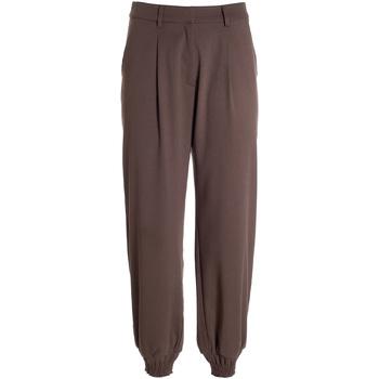 tekstylia Damskie Spodnie z lejącej tkaniny / Alladynki Fracomina F321WV4002W45901 Brązowy