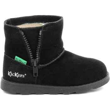 Buty Dziewczynka Kozaki i kalosze Kickers Chaussures enfant  Aldiza noir