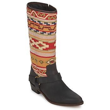 Buty Damskie Kozaki Sancho Boots CROSTA TIBUR GAVA Brązowy-czerwony