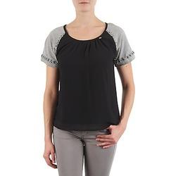 tekstylia Damskie T-shirty z krótkim rękawem Lollipops PADELINE TOP Czarny / Szary