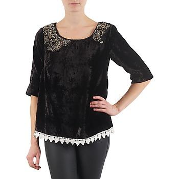 tekstylia Damskie T-shirty z długim rękawem Lollipops PILOW TOP Czarny