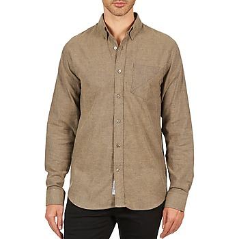 tekstylia Męskie Koszule z długim rękawem Kulte CHEMISE CLAY 101799 BEIGE Beżowy