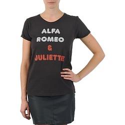 tekstylia Damskie T-shirty z krótkim rękawem Kulte LOUISA ROMEO 101950 NOIR Czarny