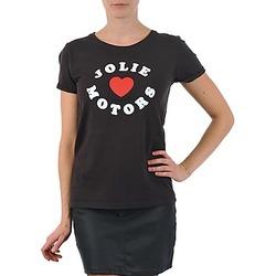 tekstylia Damskie T-shirty z krótkim rękawem Kulte LOUISA JOLIEMOTOR 101954 NOIR Czarny