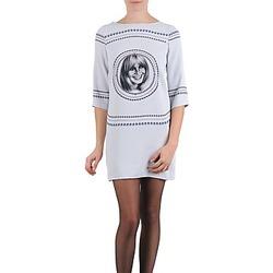 tekstylia Damskie Sukienki krótkie Brigitte Bardot BB43121 Szary