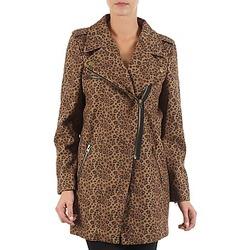 tekstylia Damskie Płaszcze Brigitte Bardot BB43110 Brązowy / Leopard
