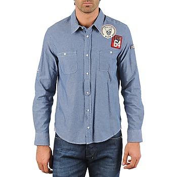 tekstylia Męskie Koszule z długim rękawem Mr Marcel NEBRASKA Niebieski