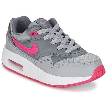 Buty Dziewczynka Trampki niskie Nike AIR MAX 1 CADET Szary / Różowy